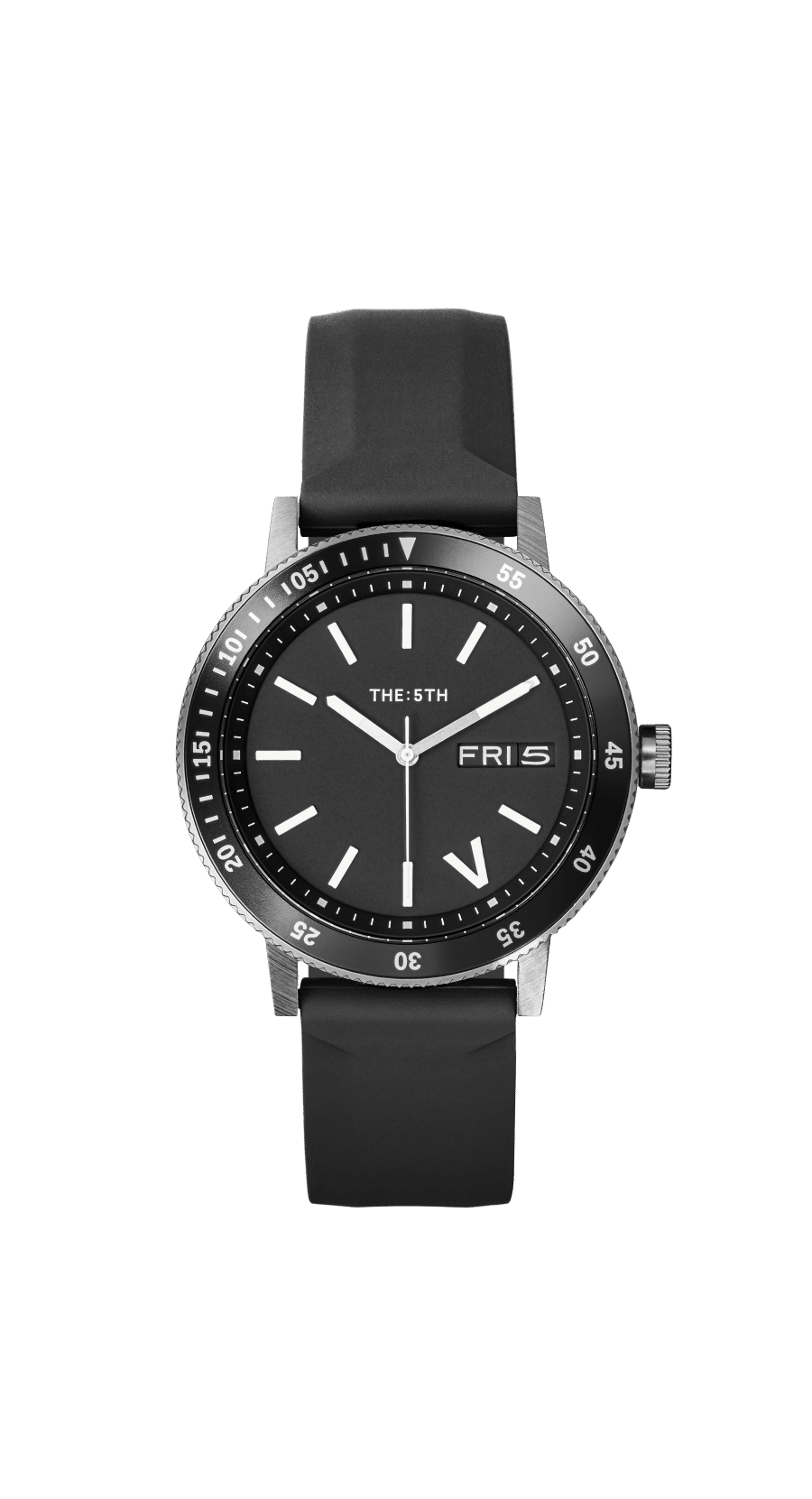 the 5th watch black leather strap