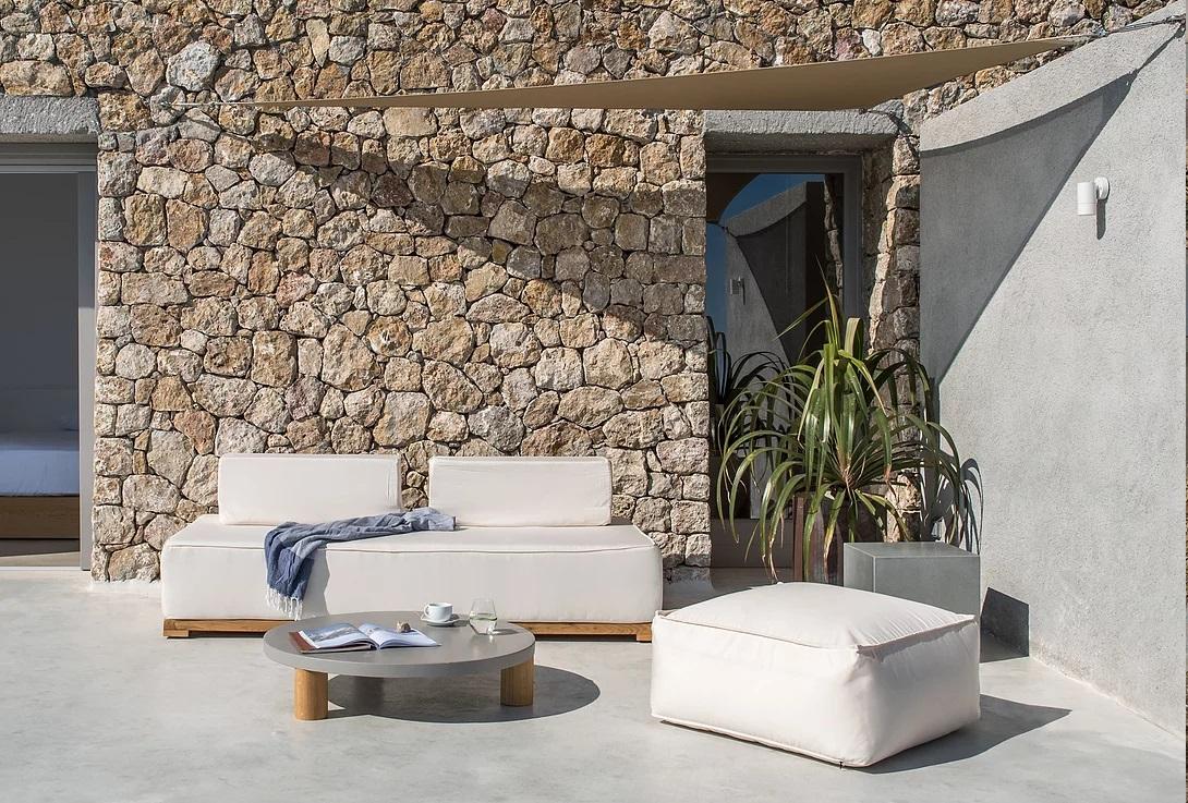 santorini villa sofa