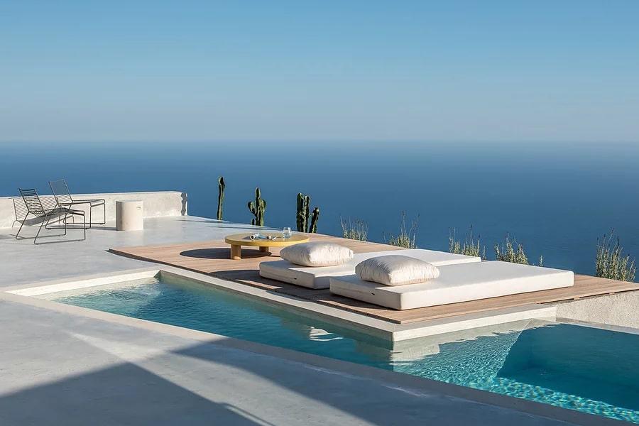 sea view in santorini villa