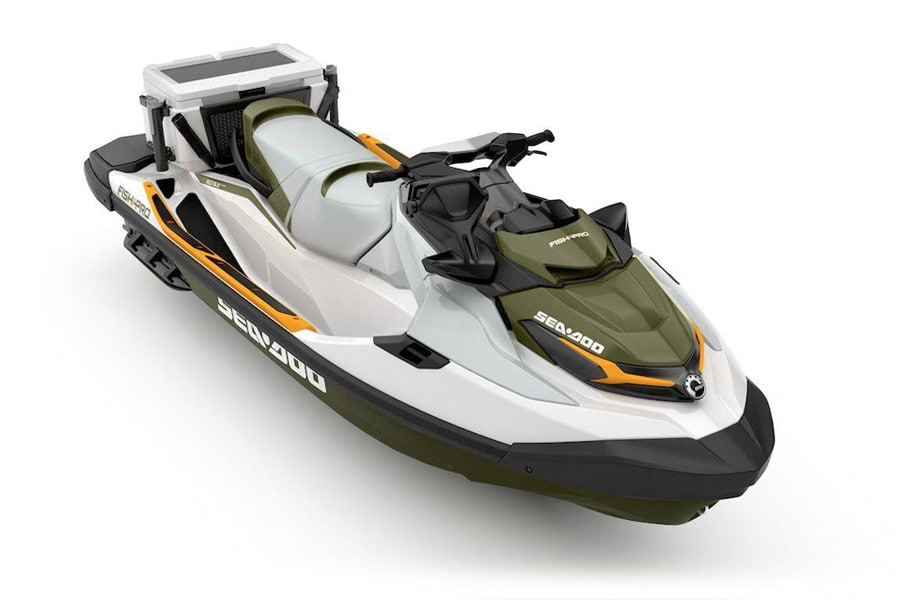 2019 sea doo fish pro all over view