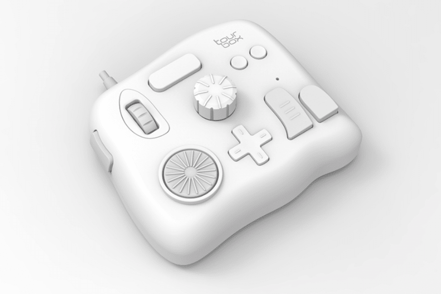 tourbox photoshop controller white