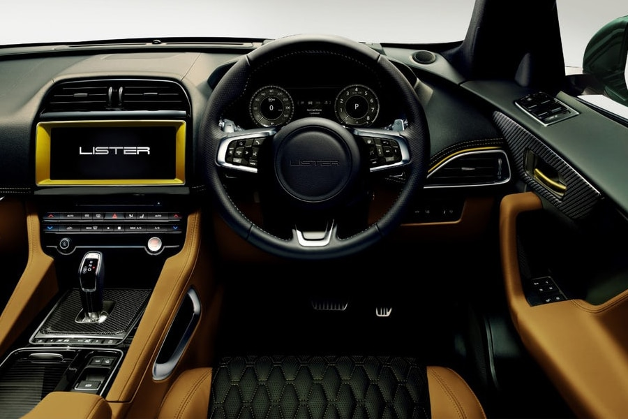 dashboard of lister suv sport utility vehicle