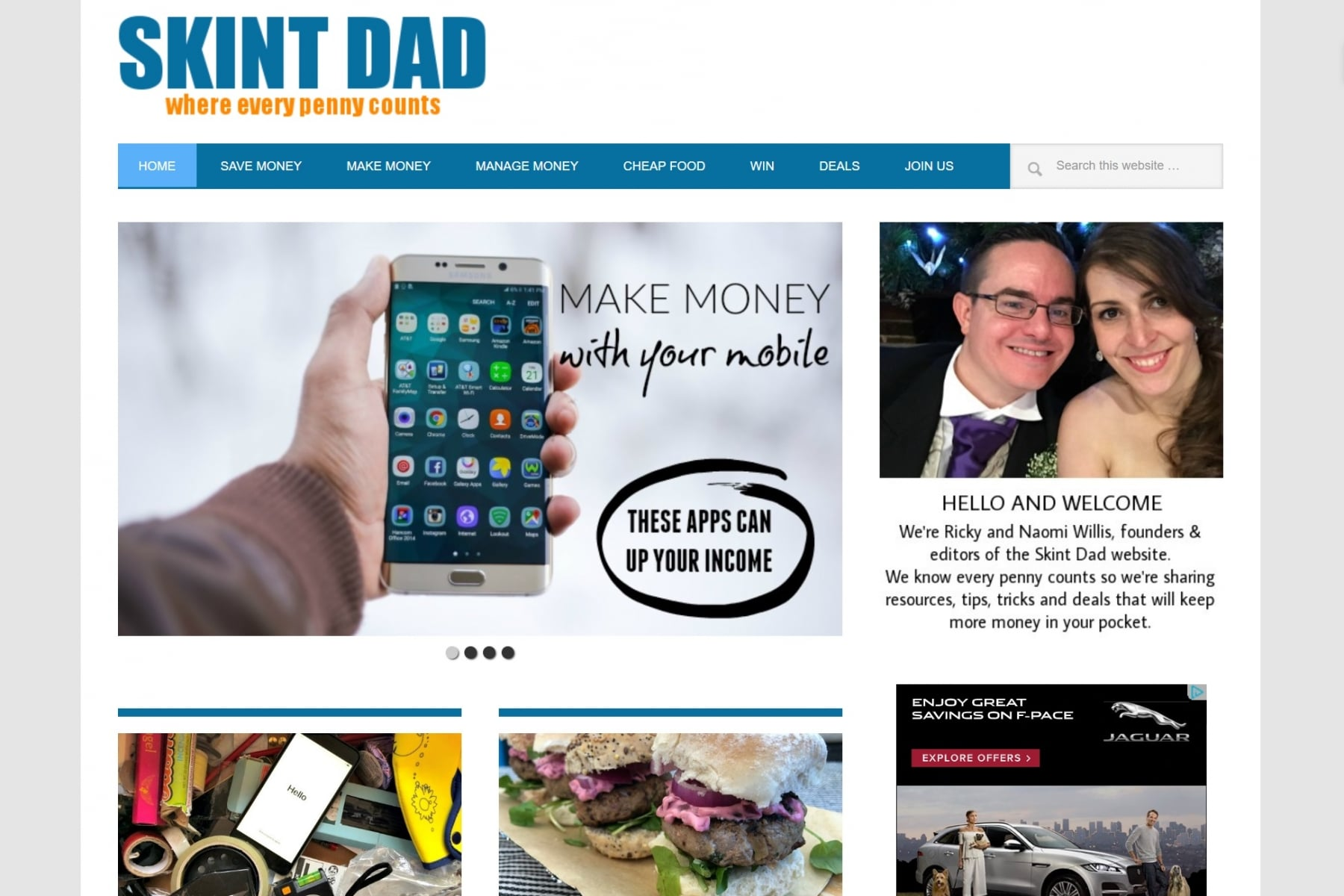 skint dad website