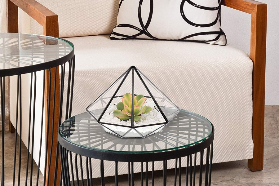 barnyard designs watertight glass terrarium