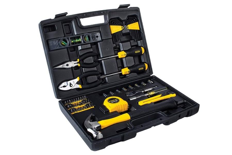 stanley 65 piece homeowner's diy tool kit