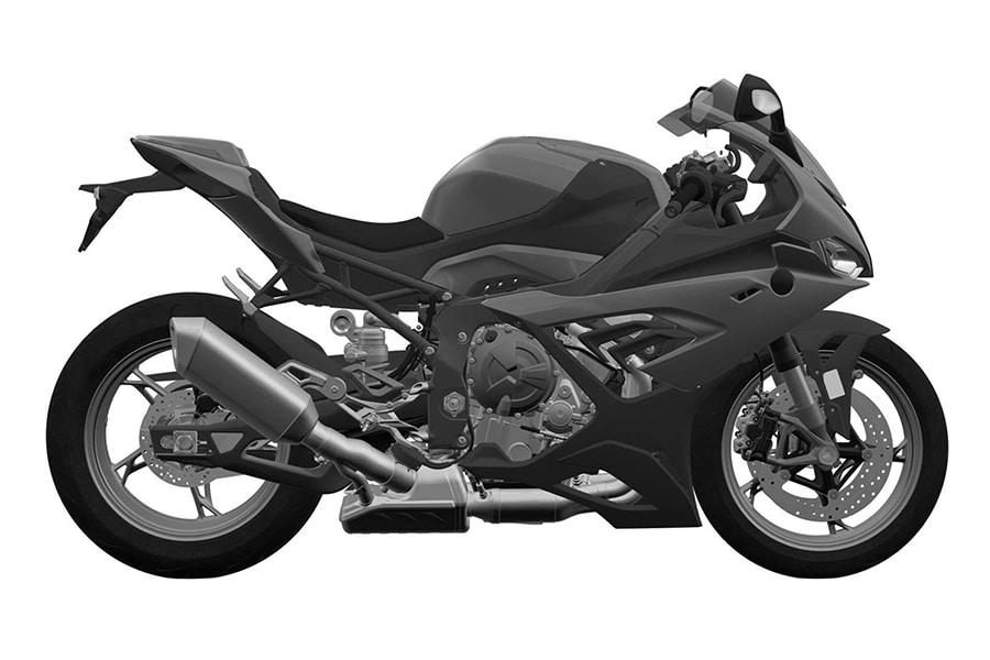 bmw 2019 s1000 rr motorbike side view