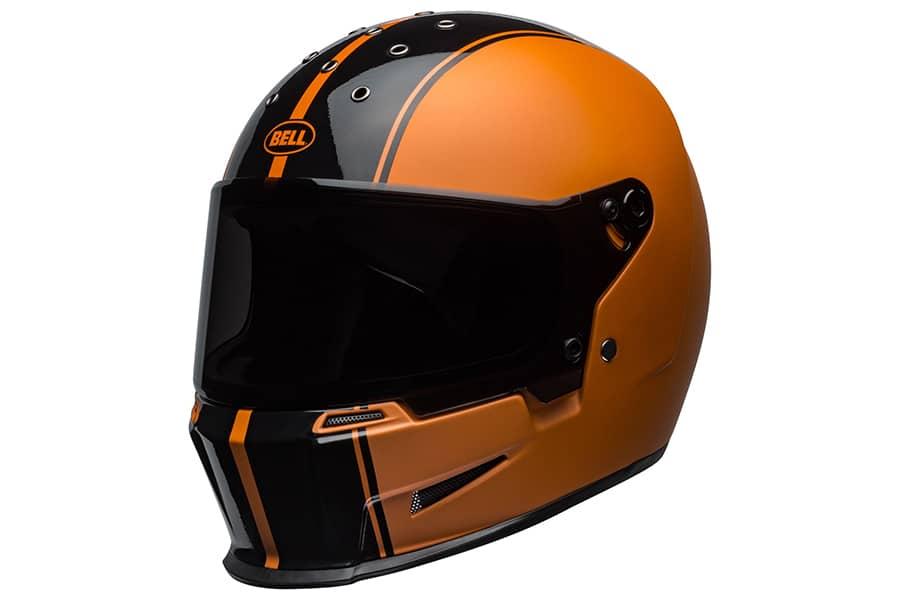 bell vintage helmet orange
