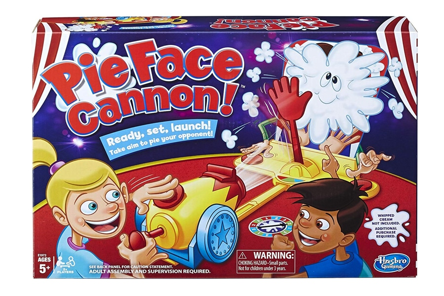pie face cannon whipped cream family board game