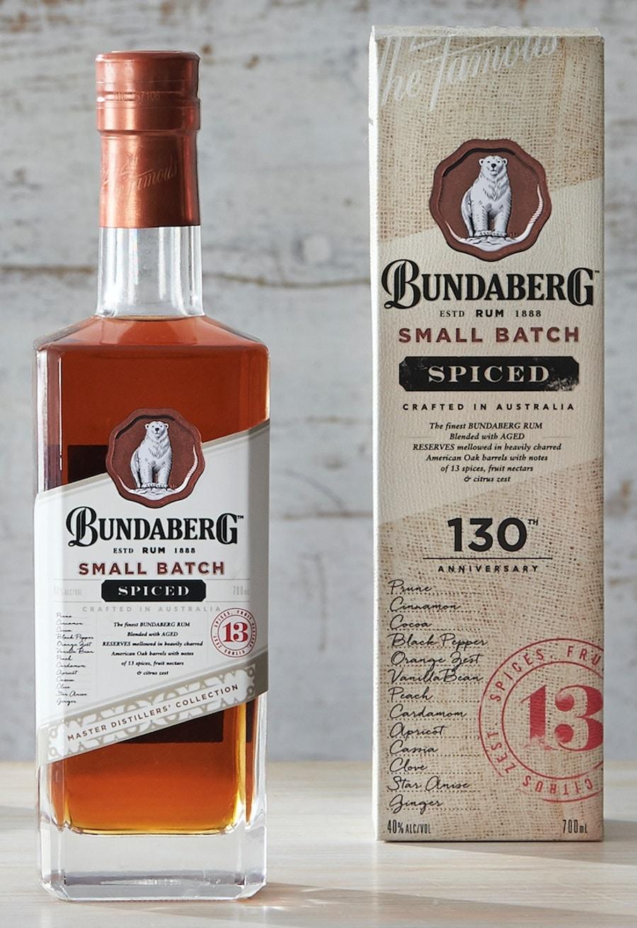 bundaberg small batch spiced rum bottle