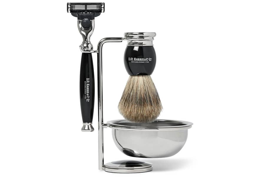 d r harris ebony shaving kit