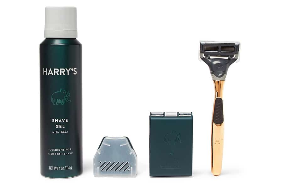 harry gold shave set