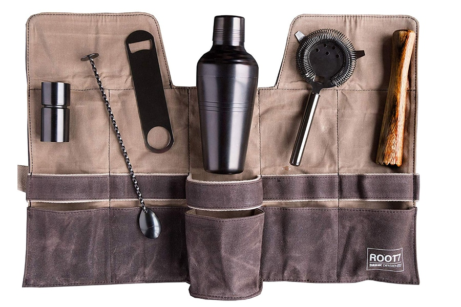 portable roll up cocktail kit
