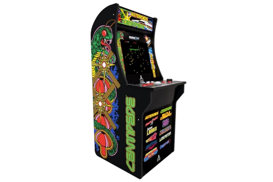 asteroids arcade game cabinet