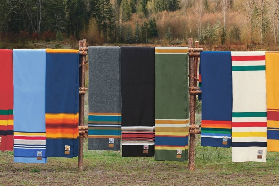 pendleton glacier national park queen blanket