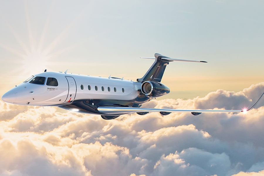 embraer new private jets praetor