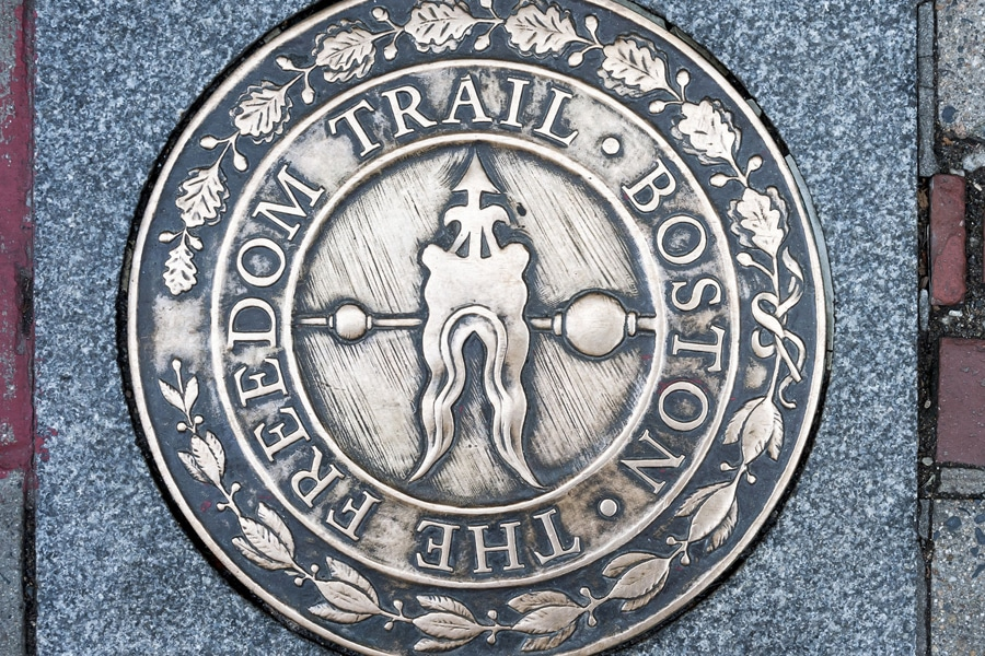 boston freedom trail marker