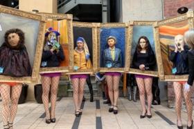 japan halloween famous painting parade