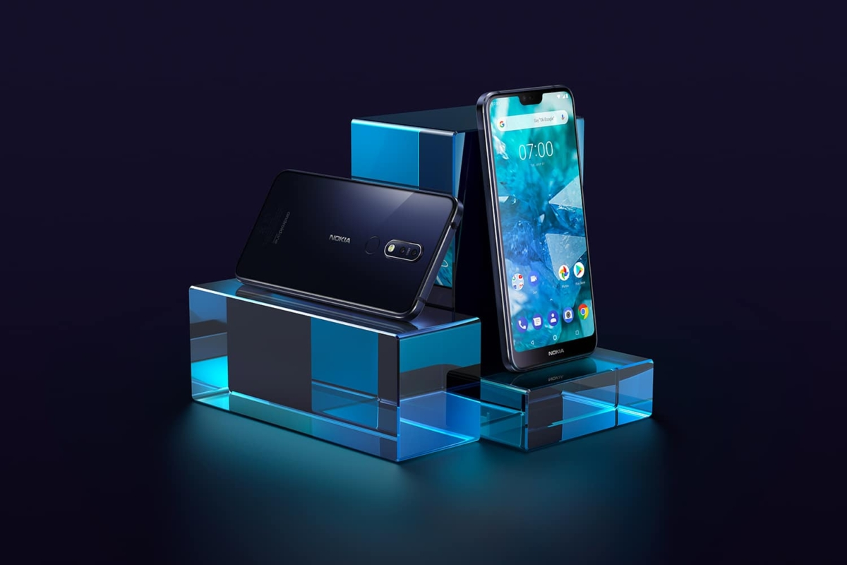 nokia 7.1 smartphone with android os