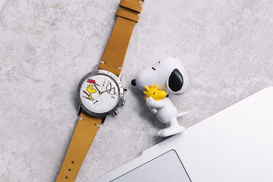 undone x peanuts watch leather strap