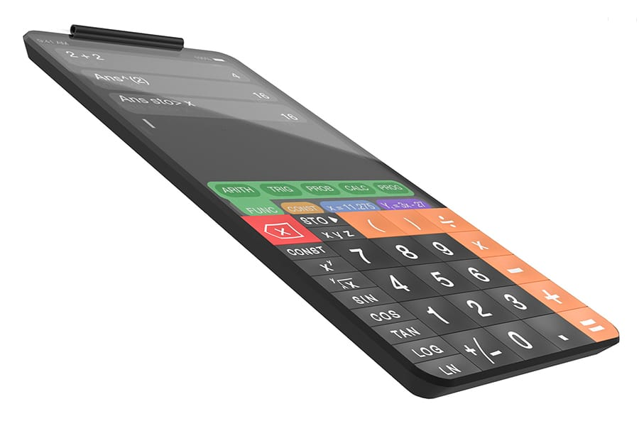 touchcal touchscreen calculator side view