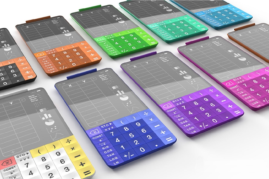 scientific calculator touchcal different colors