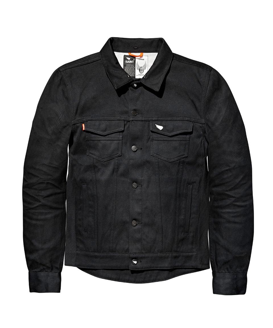 tested saint's motorbike denim jacket front