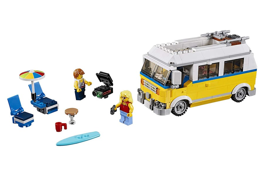 lego creator 3 in 1 sunshine surfer van building kit