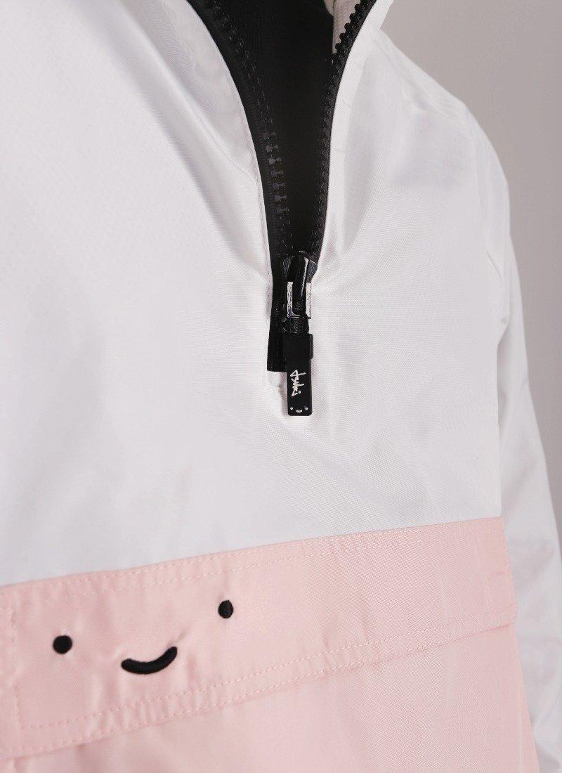 felix white t shirt zipper