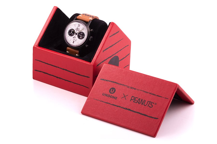 undone x peanuts watch in the case