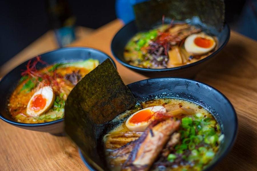 yuko ono 3 ramen bowls