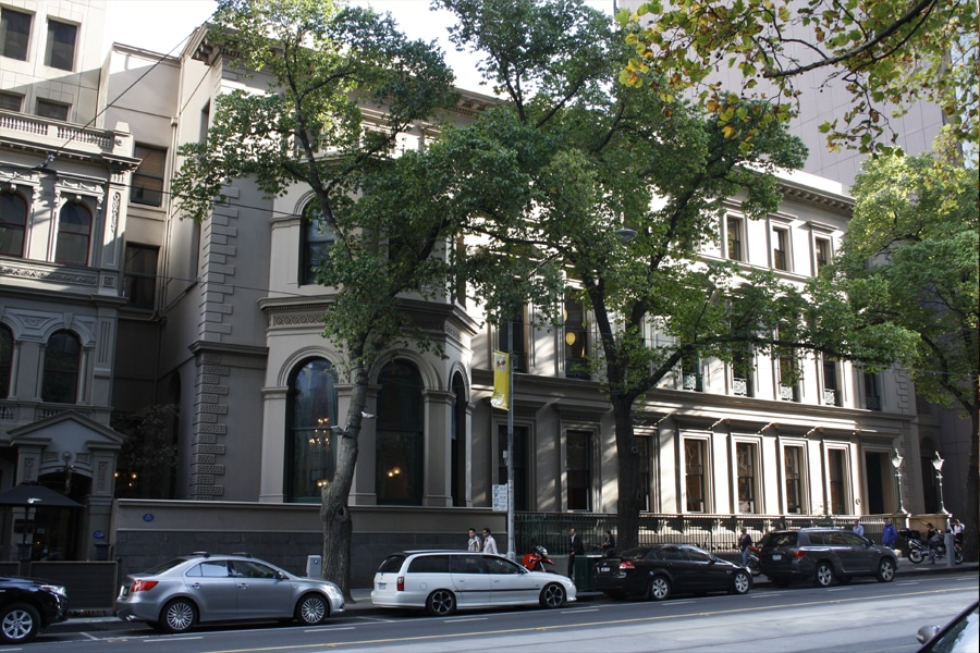 the melbourne club facade