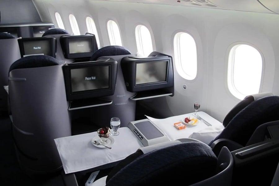 flying 787 dreamliner seats