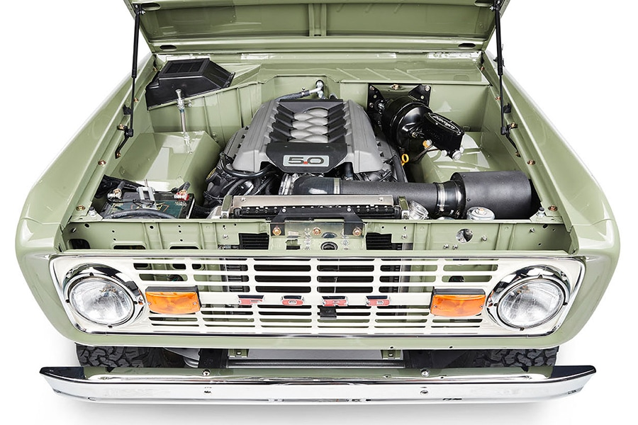 engine view bronco coyote