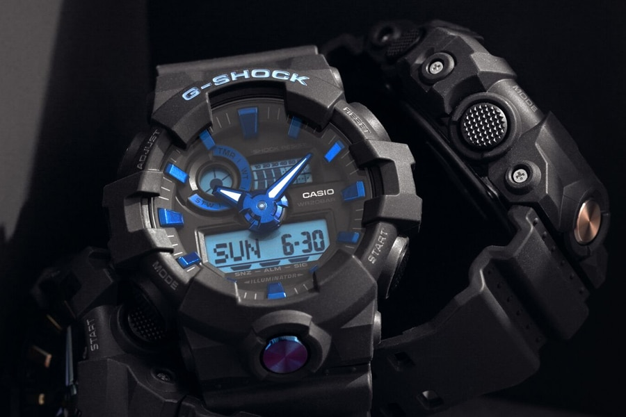 g-shock ga710b-1a2 watch dials