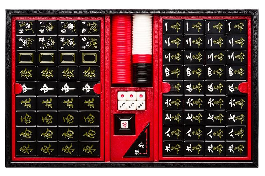 prada plays beautiful mahjong set