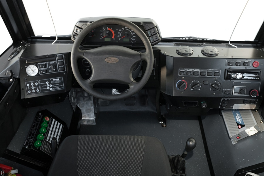 dashboard and steering wheel of rocket z