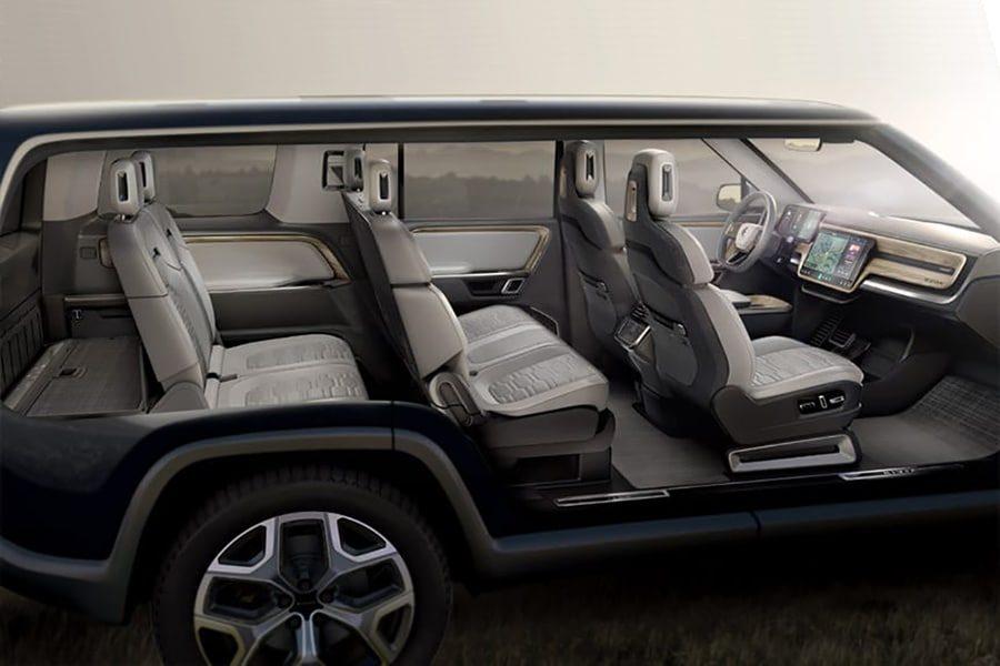 seat view rivian suv