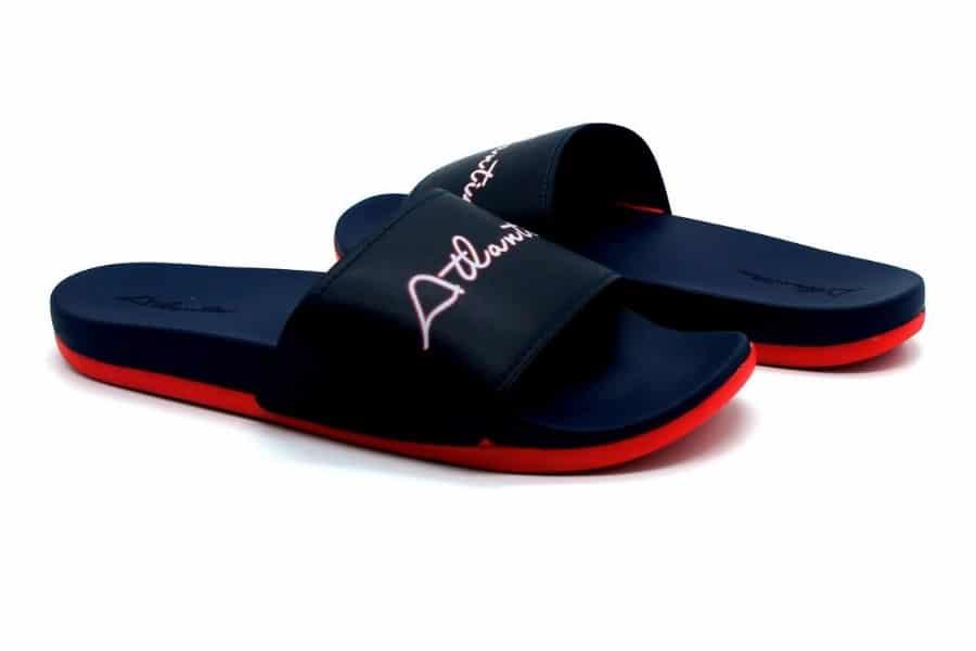 atlantis shoes dark coloured slides