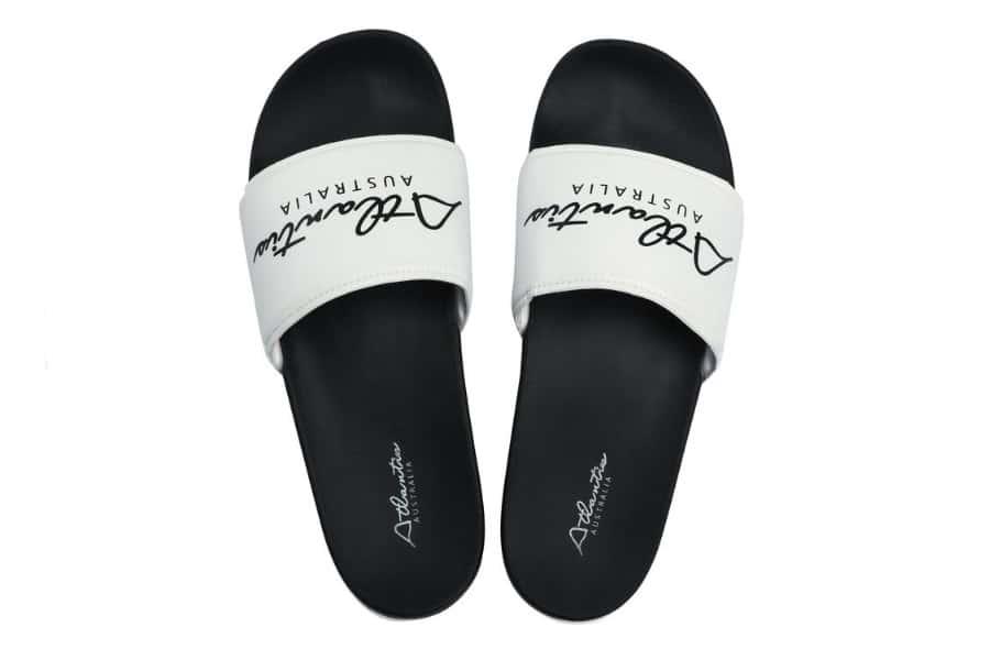 atlantis black and white thongs