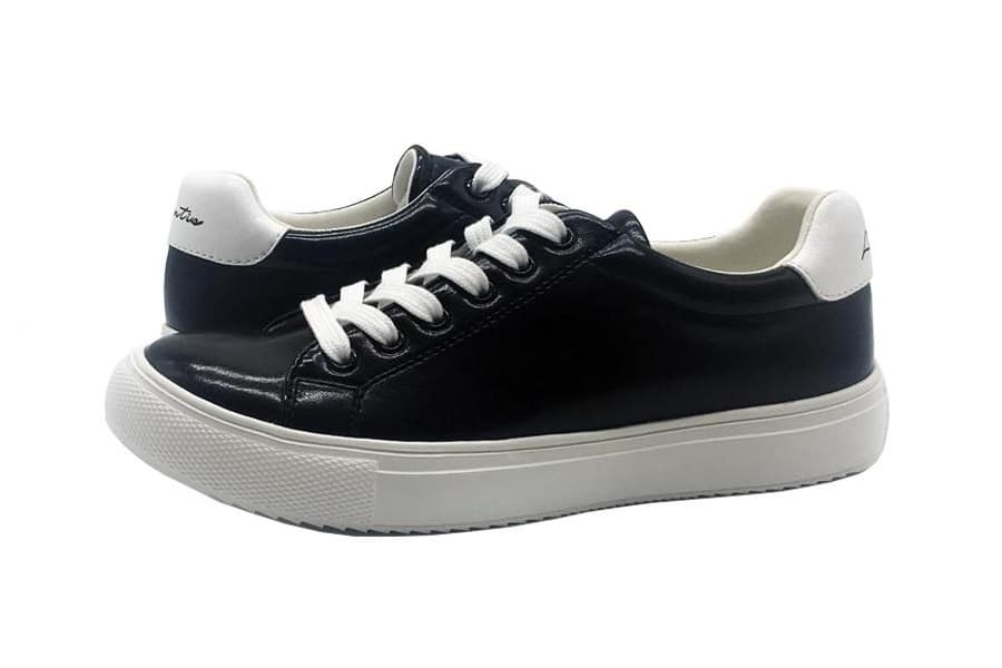 atlantis sustainable sneakers black and white