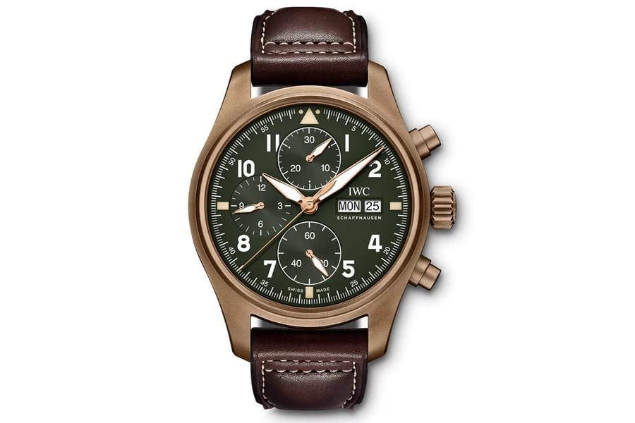 iwc pilot's watch chronograph spitfire bronze
