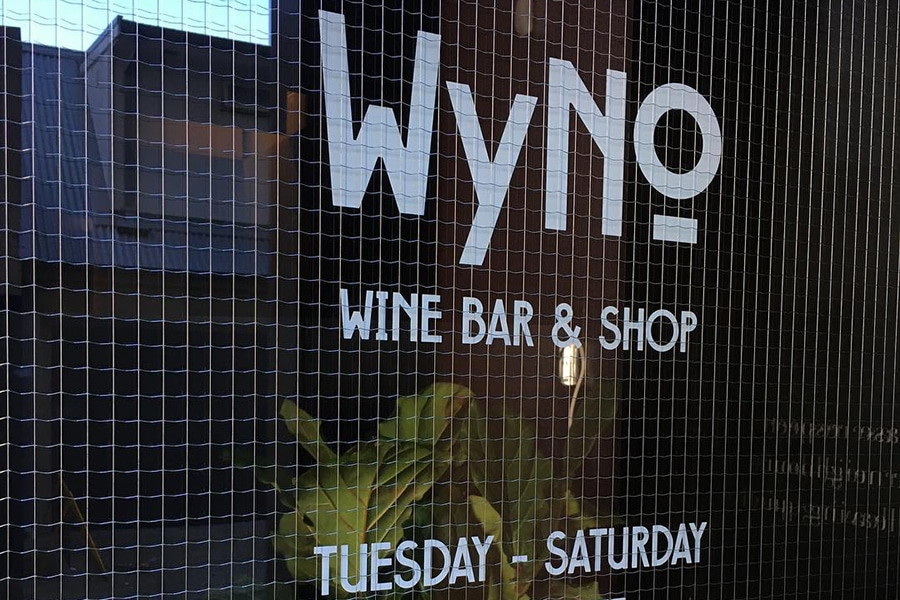 wyno logo on shop door