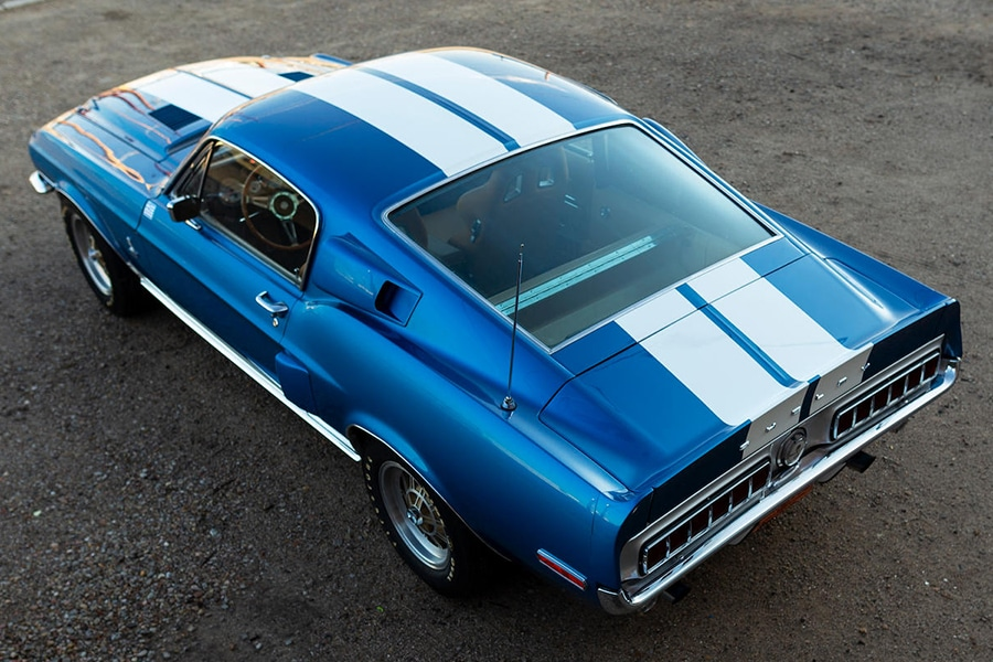 aerial 1968 shelby gt350