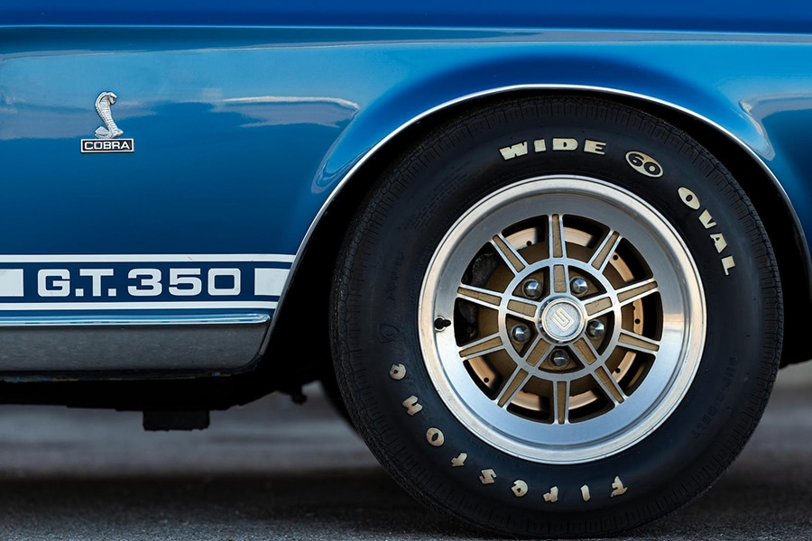 wheel view of shelby gt350