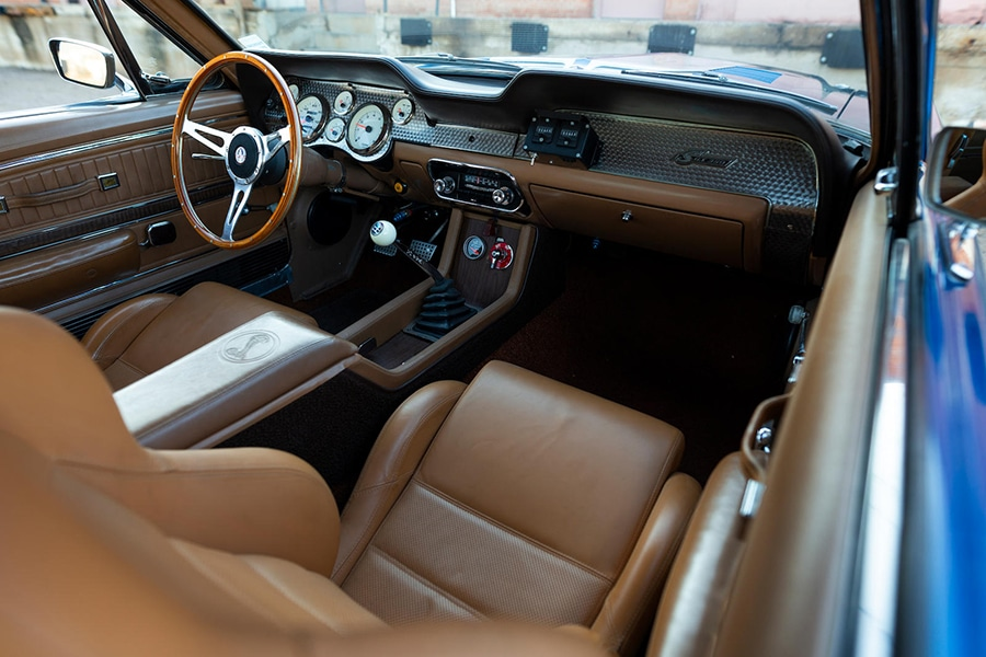 interior and dashboard view shelby
