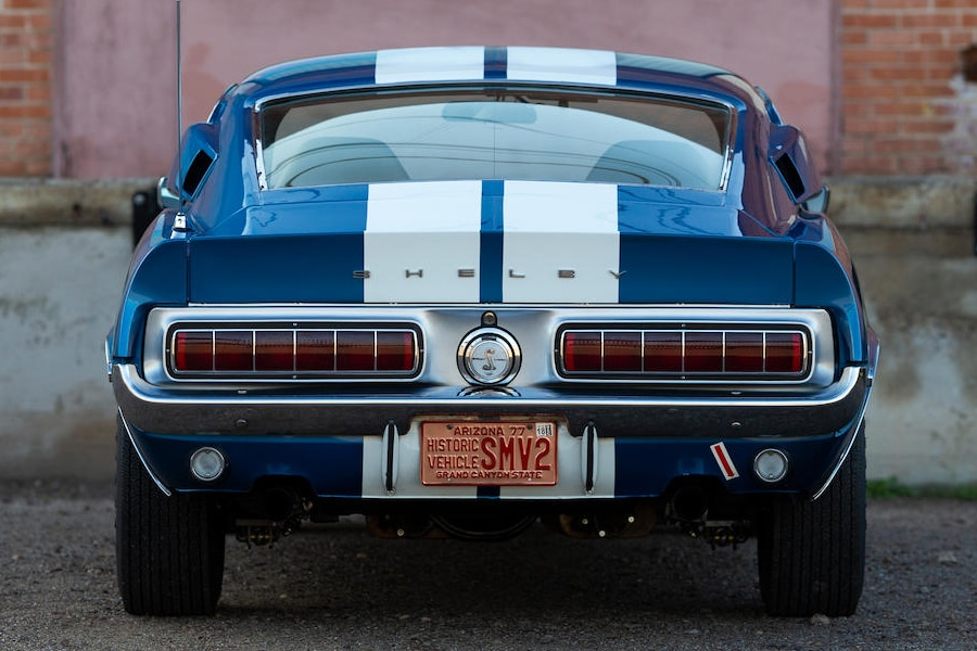 1968 shelby gt350 back view
