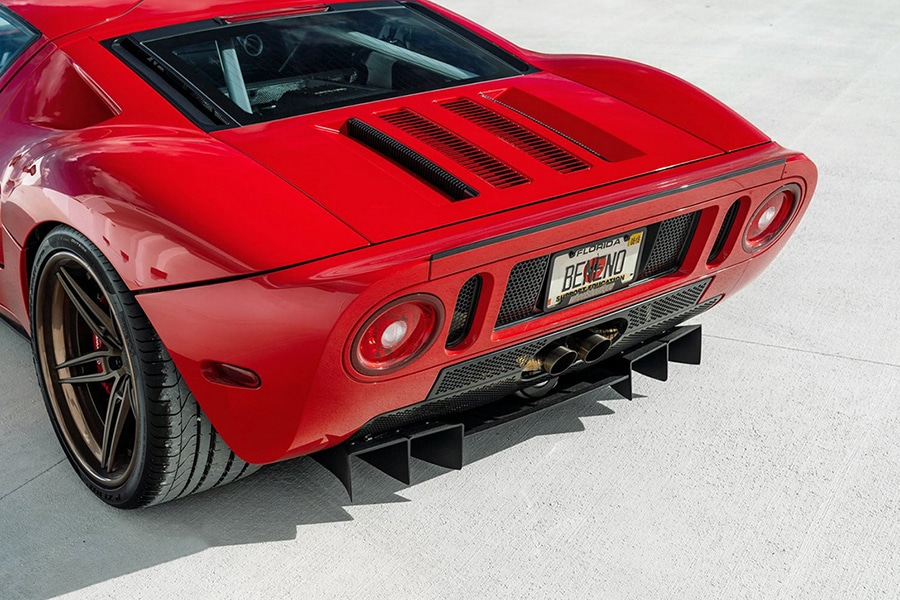 back view ford gt
