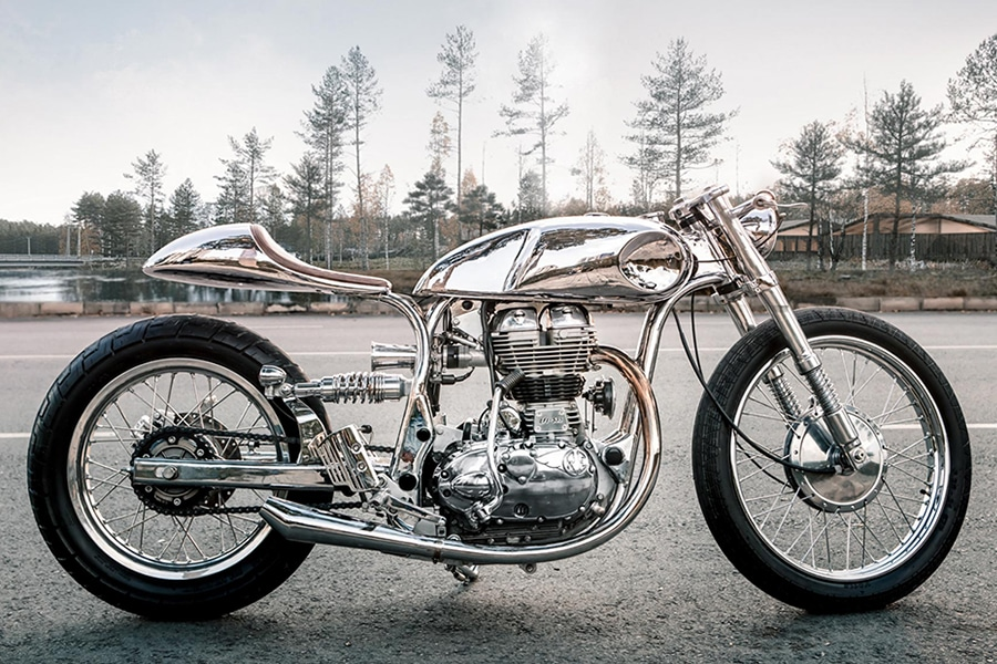 arthur custom royal enfield motorcycle