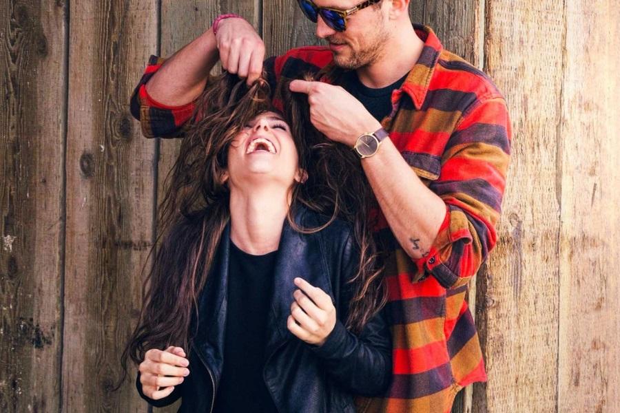 bumble man and woman funny mood