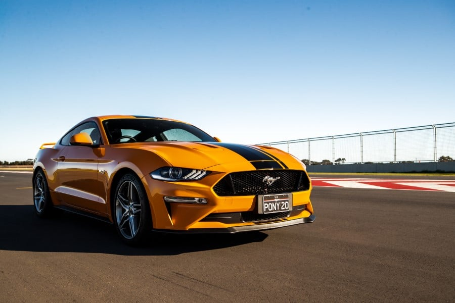 ford mustang gt yellow color